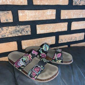 Madden Girl Embroidered Sandals